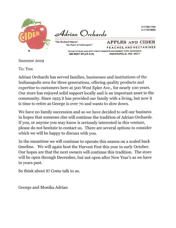 Newsletter - Adrian Orchards